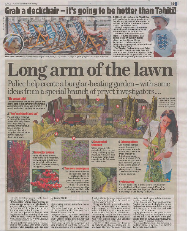 Media coverage in Mail on Sunday of Jacqueline Poll's work